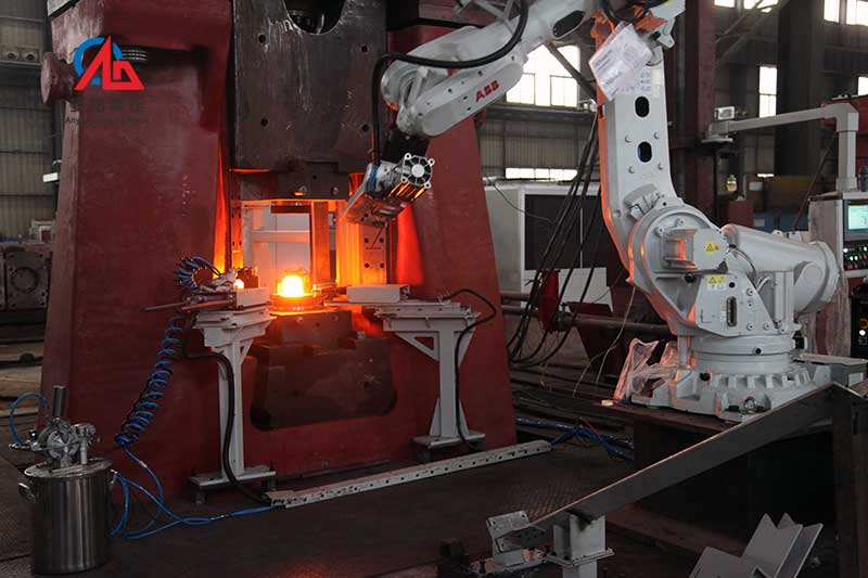 steel ball making process on pneumatic forging hammer